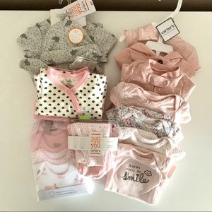 New! Lot of preemie baby girl clothes